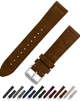 Benchmark Basics Dark Brown 18mm Suede Watch Strap