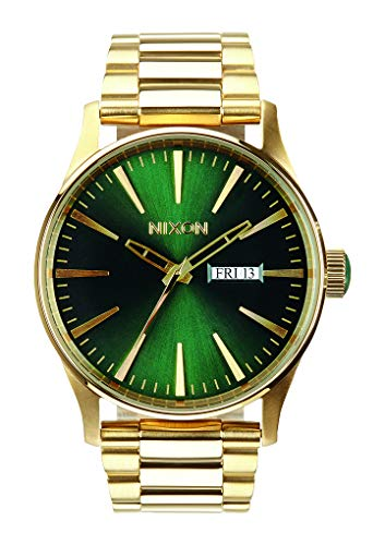 NIXON Sentry SS A356 - Gold Green Sunray - 100m Water Resistant