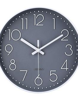 Non-Ticking Wall Clock Silent Battery Operated