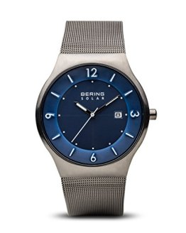 BERING Time | Men's Slim Watch 14440-007 | 40MM Case | Solar Collection