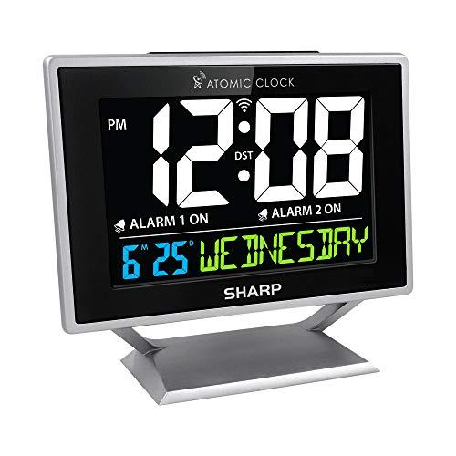 Sharp Atomic Desktop Clock with Color Display - Atomic Accuracy