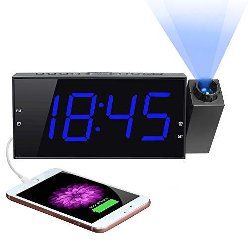 Projection Digital Alarm Clock 180°Projector
