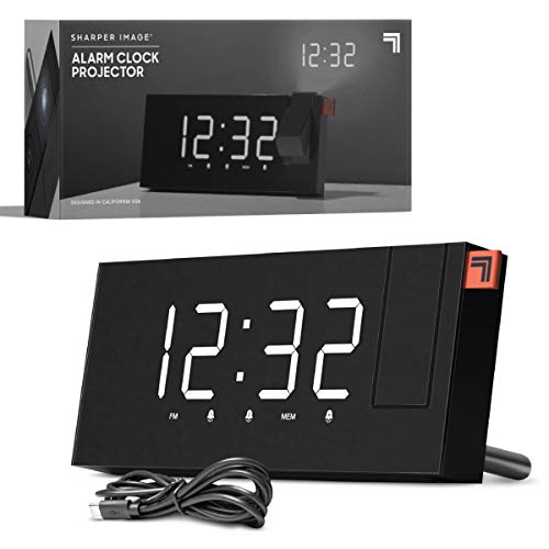 Projection Alarm Clock Dual Alarms with FM Radio Function