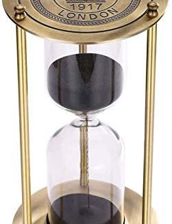 SuLiao Hourglass 60 Minute Sand Timer Metal Antique Sand Clock