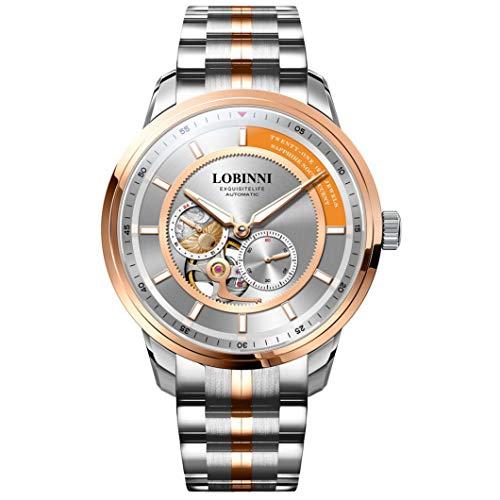 Mens Automatic Watch,LuxuryWatchesforMen Stainless Steel LOBINNI
