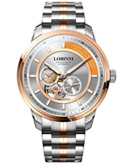 Mens Automatic Watch,Luxury Watches for Men Stainless Steel LOBINNI