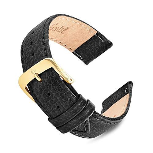 16mm-20mm Black Cowhide Speidel Leather Watch Band