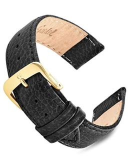16mm-20mm Black Cowhide Speidel Leather Watch Band