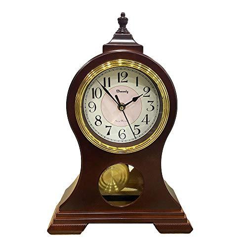 Retro Mantel Clock with Pendulum Wood