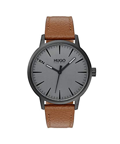 Brown  Hugo Boss Watch with Leather Strap