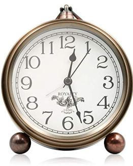 Living Room Metal Antique Table Clock