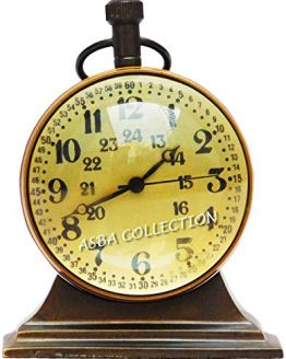 JD'Z COLLECTION Brass Vintage Nautical Desk and Shelf Clock