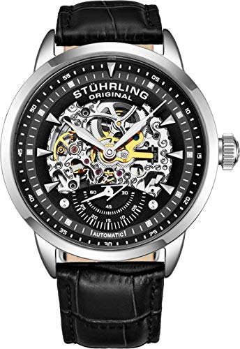 Stuhrling Original Mens Automatic Watch Skeleton Watches for Men