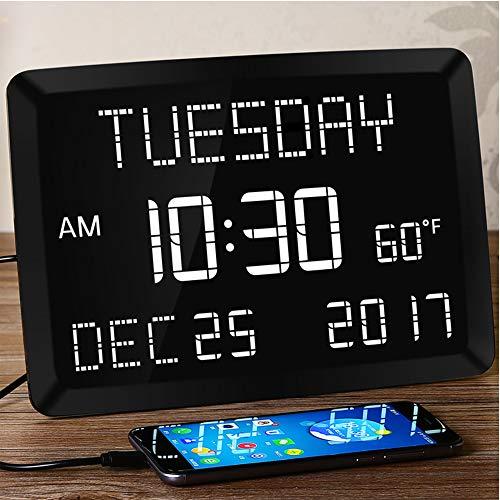 Large Alarm Clock for Bedroom LED Kitchen Desk Wall