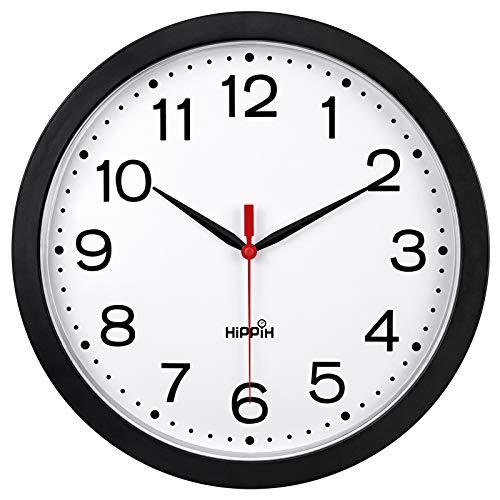 Wall Clock Non-Ticking Digital Plastic Battery
