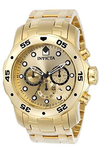 Invicta Men's Pro Diver Scuba 48mm Gold Tone Stainless Steel