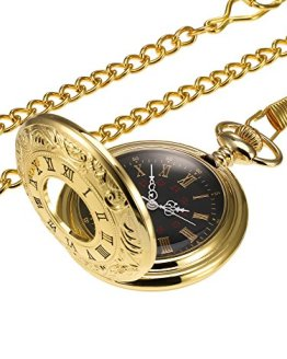 Hicarer Vintage Pocket Watch Steel, Men Watch