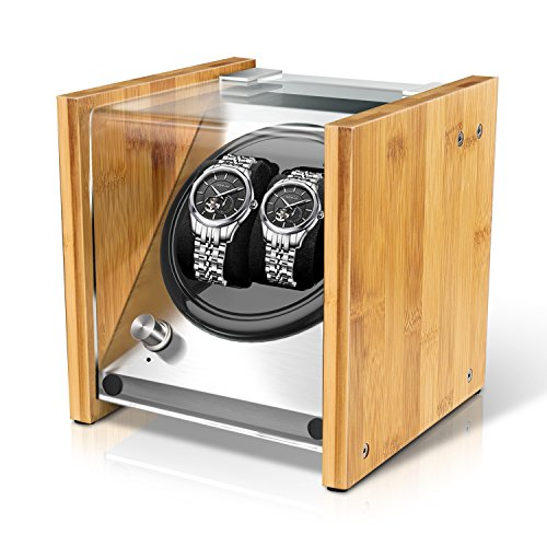 Bamboo Watch Winder Double for Automatic Watches