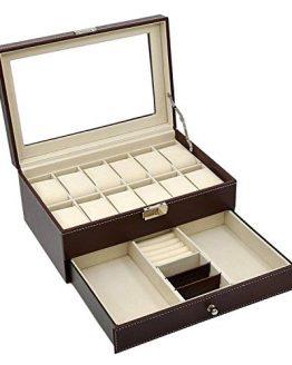 Display Drawer Lockable Watch Case Organizer