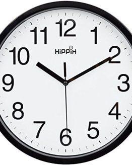 Yoobure 10 Silent Quartz Decorative Wall Clock Non-Ticking