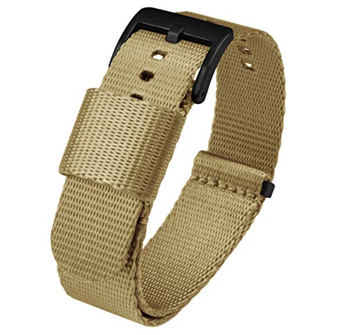 BARTON Jetson NATO Style Watch Strap Black Buckle