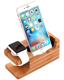 iWatch Bamboo Wood Charging Dock Charge Station Stock