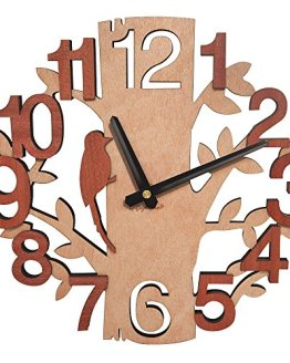 Tree Shaped Wall Clock Wood