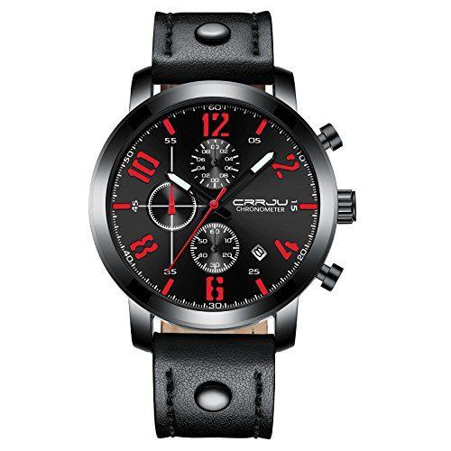 Waterproof Black Men's Watch Business