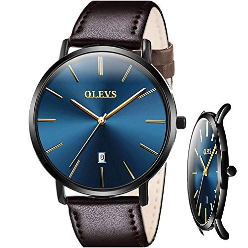 OLEVS Men's Ultra Thin Watches Watches for Men