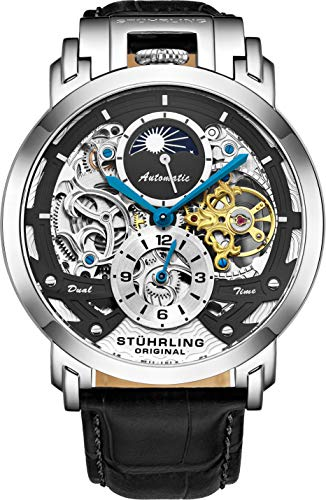 Stuhrling Original Automatic Watch Skeleton Leather