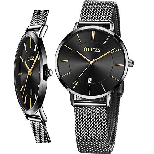 Black Luxury Dress Wrist Waterproof