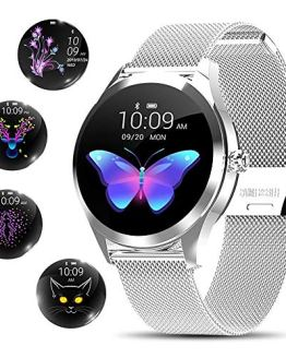 Waterproof Smartwatch Fitness Tracker with Heart Rate Sleep Monitoring