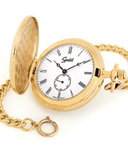 Gold Tone with White Dial Speidel Classic Smooth Pocket Watch