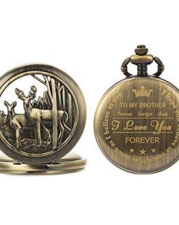 SIBOSUN Pocket Watch Personalized Engraved Back Case Graduation