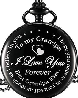 Hicarer Pocket Watch I Love You Forever