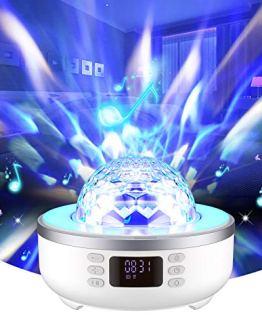 Star Projector Night Light Bluetooth Speaker Bedside Table Lamp