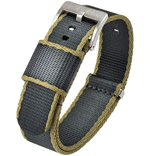 BARTON Jetson NATO Style Watch Strap - Stainless Steel Buckle