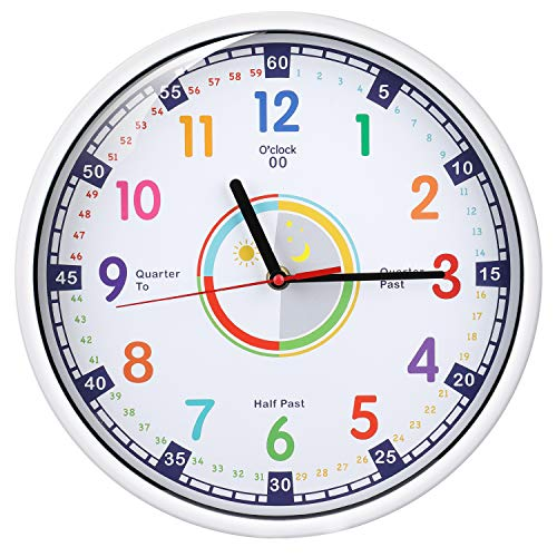 Wall Clock for Kids with Silent Non Ticking