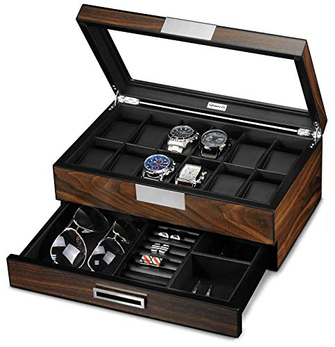 Lifomenz Co Wooden Watch Box for Men