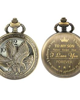 Personalized Pocket Watch Engraved Back Case