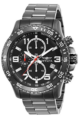 Invicta Gunmetal Stainless Steel Chronograph Quartz Watch