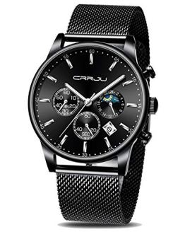 CRRJU Men Watch,Men Luxury Waterproof Unique Designed