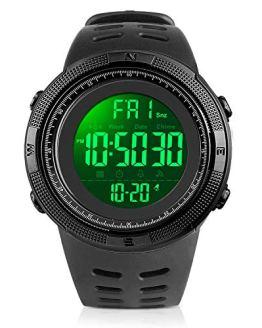YEENIK Men's Digital Watch, Led Military 50M Waterproof