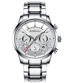 CRRJU Watches for Men,Chronograph Elegant Business Date Analog