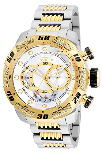 Invicta Men's Speedway 50mm Two Tone Stainless Steel