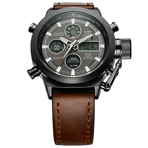 Analog Digital Golden Hour Military Watch Waterproof