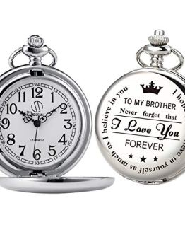 Pocket Watch My Brother Engraved