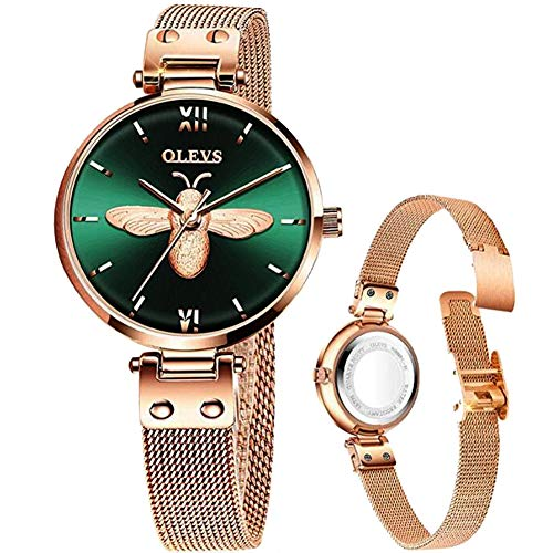 Rose Gold Watch Mesh Watch for Lady