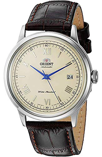 Orient Automatic Watch with Brown  Leather Strap