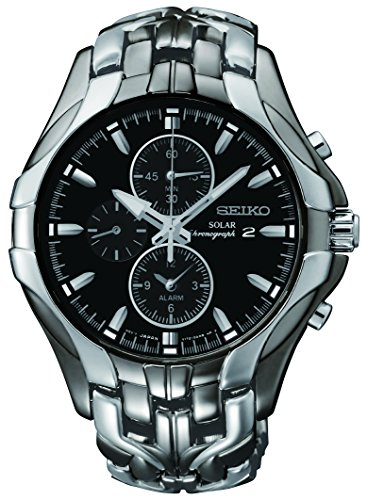 Seiko Men's Excelsior Gunmetal and Silver-Tone Watch
